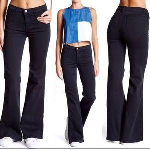 Current Elliot High Rise Bell Bottom Black Jeans